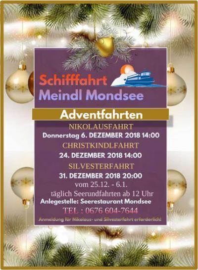 Adventfahrten - Schifffahrt Meindl