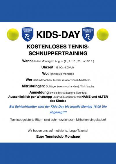 Tennisclub Mondsee Kids Days 2021