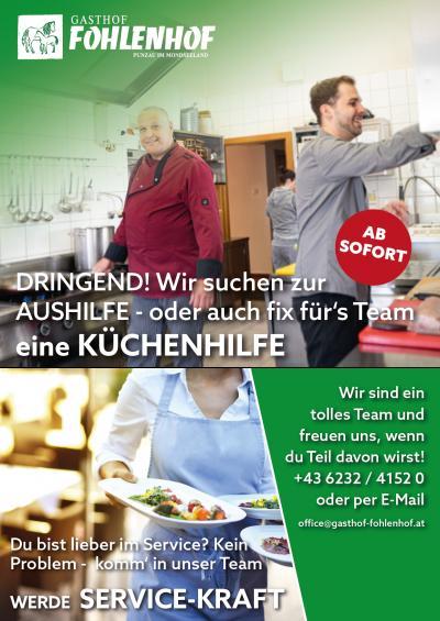 Gasthof Fohlenhof - Wir suchen ...