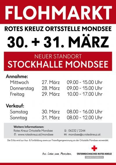 Rotes Kreuz Mondsee Flohmarkt 2019